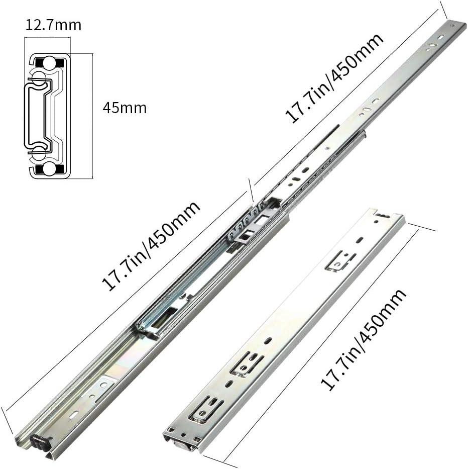 SHUHANG Full Extension Drawer Slides 10 inch 100 LB Capacity Drawer Slides 1 Pair Side Mounted