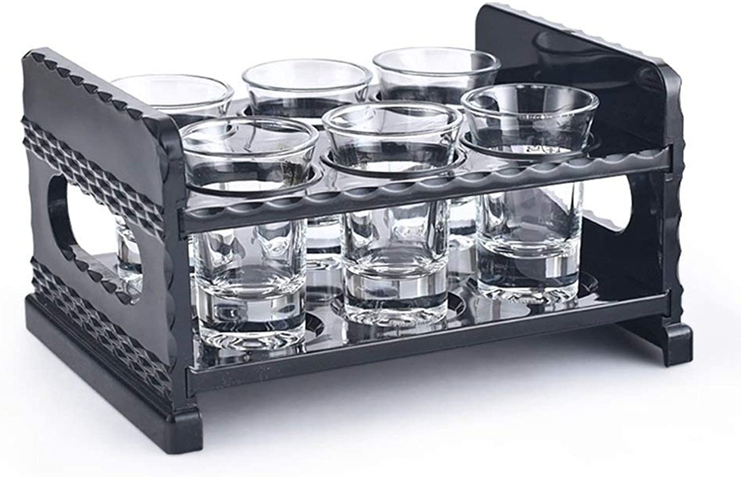 Bottle Holder Modern wind wine rack Wine Rack Acrylic Black 2 Layer Desktop Diamond Pattern Design Card Position Solid Thick Sleek for A Variety of Occasions Round Bullet Cup Cup Hole  6 Holes, 12 Hol