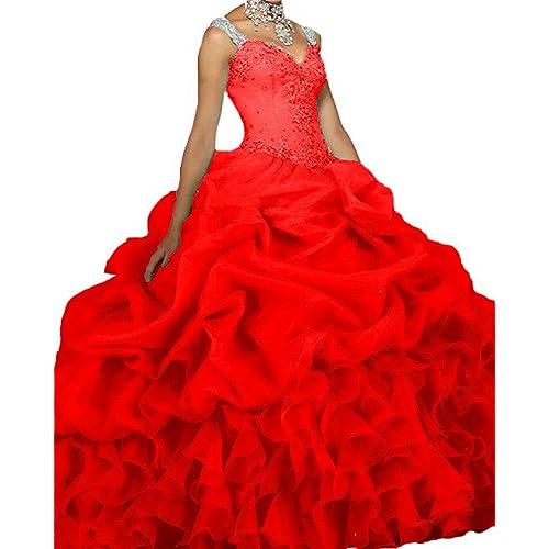 4bc783718c Dydsz Women s Quinceanera Dresses 2019 Ball Gown Sweet 16 Prom Dress Plus  Size D18