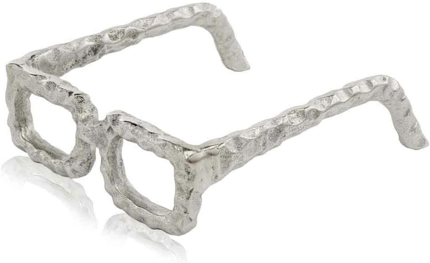 Modern Day Accents Silver, Sunglasses Sculpture, Trendy, Aluminum, Figurine, Table Top, Home and Office Decor, Spectacles, Square Glasses, Modern, 6