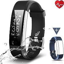 Chereeki Fitnessarmband, LATEC fitnesstracker horloge met hartslagmeter, waterdicht IP67, activiteitstracker, polshorloge,...