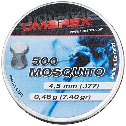 5 barattoli Umarex 4,5 mm Mosquito testa piatta, diabolos per fucile ad aria compressa