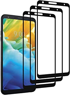 [3-Pack]LALLEY Compatible with LG Stylo 4 Screen Protector, Full Coverage Tempered Glass Screen Protector Edge to Edge Protection Film