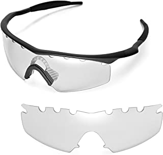 Walleva Vented Replacement Lenses Or Lenses with Black Nosepad for Oakley M Frame Strike Sunglasses - 21 Options Available