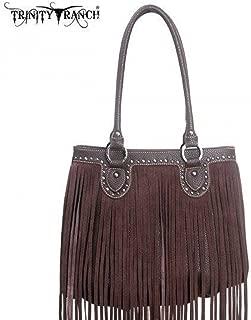 Montana West TR09-8562 Trinity Ranch Fringe Design Western Handbag Purse