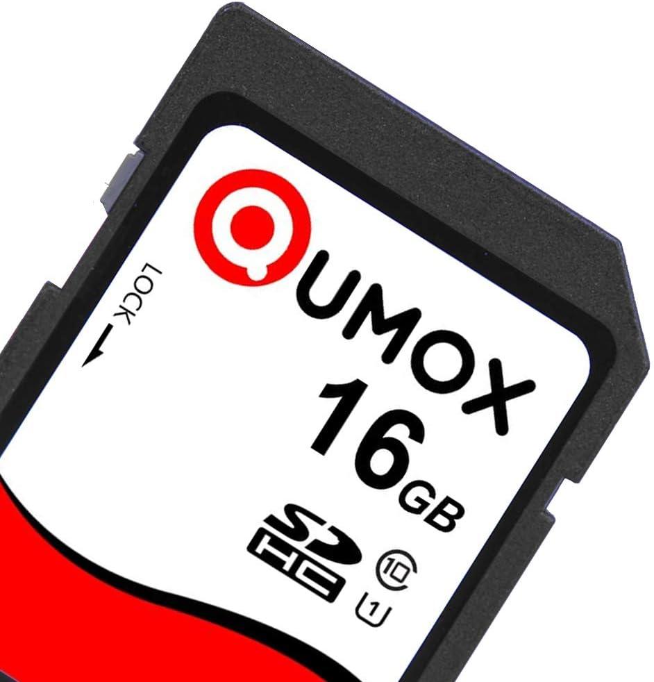 QUMOX 2X 16GB SD HC 16 GB SDHC Class 10 UHS-I Secure Digital Memory Card HighSpeed Write Speed Write 15MB/s Read: 40MB/s
