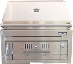 Sunstone 28-Inch Built-in Stainless Steel Charcoal Grill - SUNCHDZ28