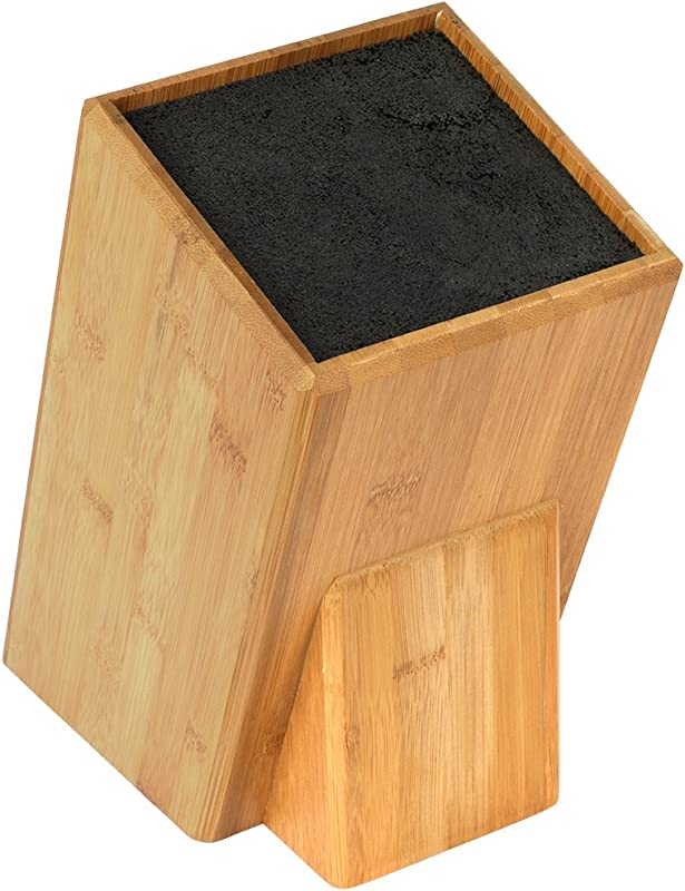 Mantello XL Universal Bamboo Wood Knife Block Storage Holder Organizer