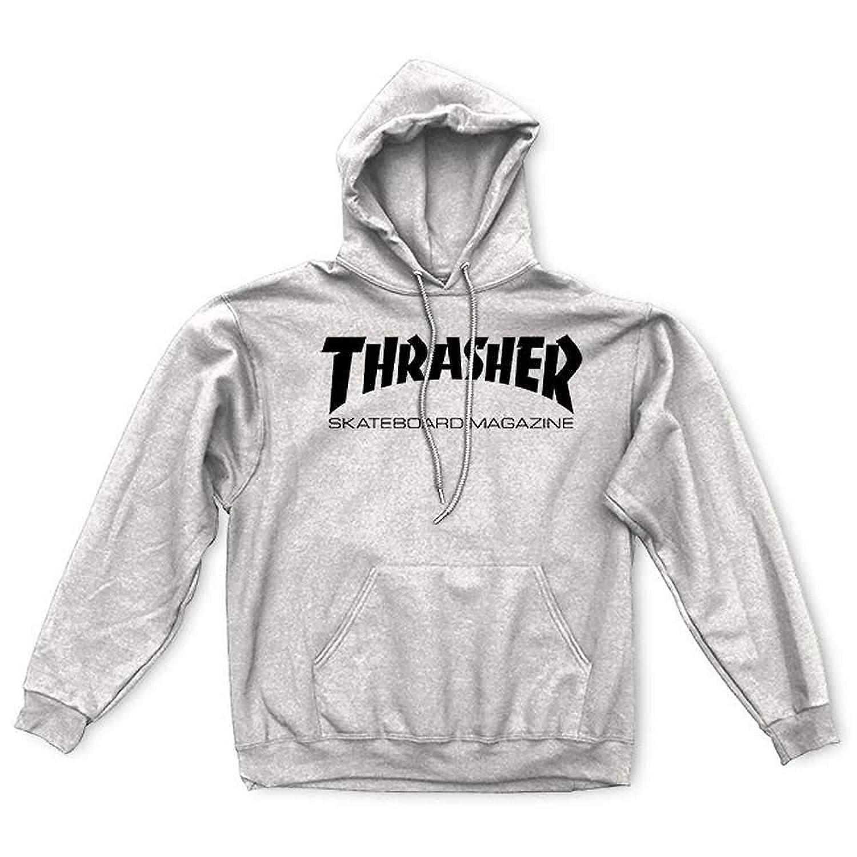 THRASHER(スラッシャー) プルオーバーパーカー Skate Mgz Pullover Hoody (ヘザーグレー) [並行輸入品]