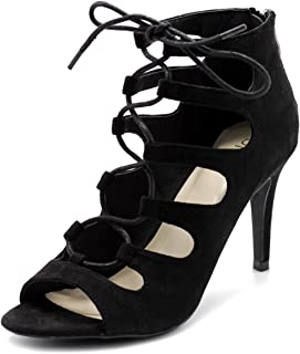 Womens Shoe Lace-up Gladiator High Heel Bootie