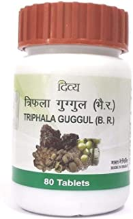 Patanjali Divya Triphala Guggul - 80 Tab (Pack of 2) - by Exportmart