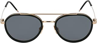 Luxury Fashion | Thom Browne Mens TB801AGLDBLK5112 Bronze Sunglasses | Fall Winter 19