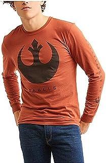 Fashion Star Wars The Last Jedi Rebel Logo Orange Long Sleeve Graphic T-Shirt