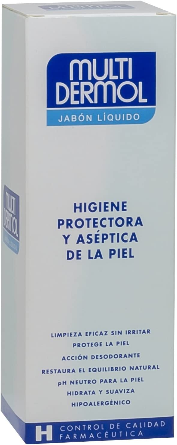 Multidermol Jabón Liquido - Pieles Sensibles, Ph Neutro, Calma y Suaviza, Avena al 100%, 750 ml