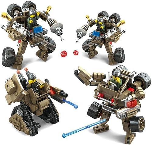 tienda en linea DYMAS Juguete Los Niños Militar Tanque Tanque Tanque Robot armar Cuatro Cajas de Juguetes Rompecabezas de Bloques de construcción  Descuento del 70% barato