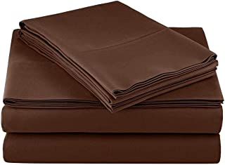 Tula Linen 1100 TC 100% Egyptian Cotton Sleeper Sofa Bed Sheet Set Solid fit Up to 8 Inch with 4 -PCS Fitted Straps Premium Quality (King(76