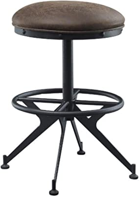 Zangief Counter Height Stool in Salvaged Brown & Black Finish