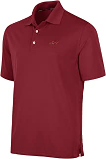 Mens Five Iron Performance Rugby Polo Shirt, Red, Small
