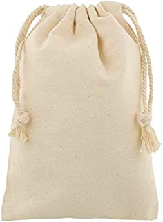 Earthworks Cotton Cloth Pouch with Drawstring - Pack of 4
