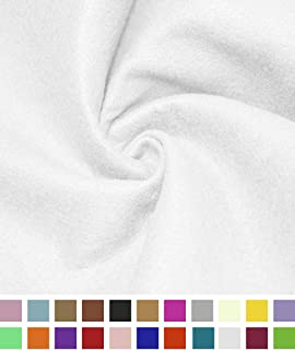 Barcelonetta | Acrylic Felt Fabric | 72'' Inch Wide | 1.5mm Thick | DIY Arts & Crafts, Sewing, Cushion and Padding (White, 1 Yard)