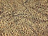 Mini Leopard Fleece-Stoff, Anti-Pilling, Meterware, Braun