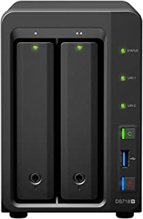 Synology DiskStation DS718+ NAS Server for Business with Intel Celeron CPU, 6GB Memory, 4TB SSD Storage, Synology DSM Operating System