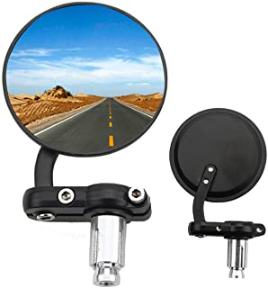 Redondos Universales Espejo para Ciclomotor Pit Bike ATV Scooter Plata GOOFIT Retrovisor Moto 8mm