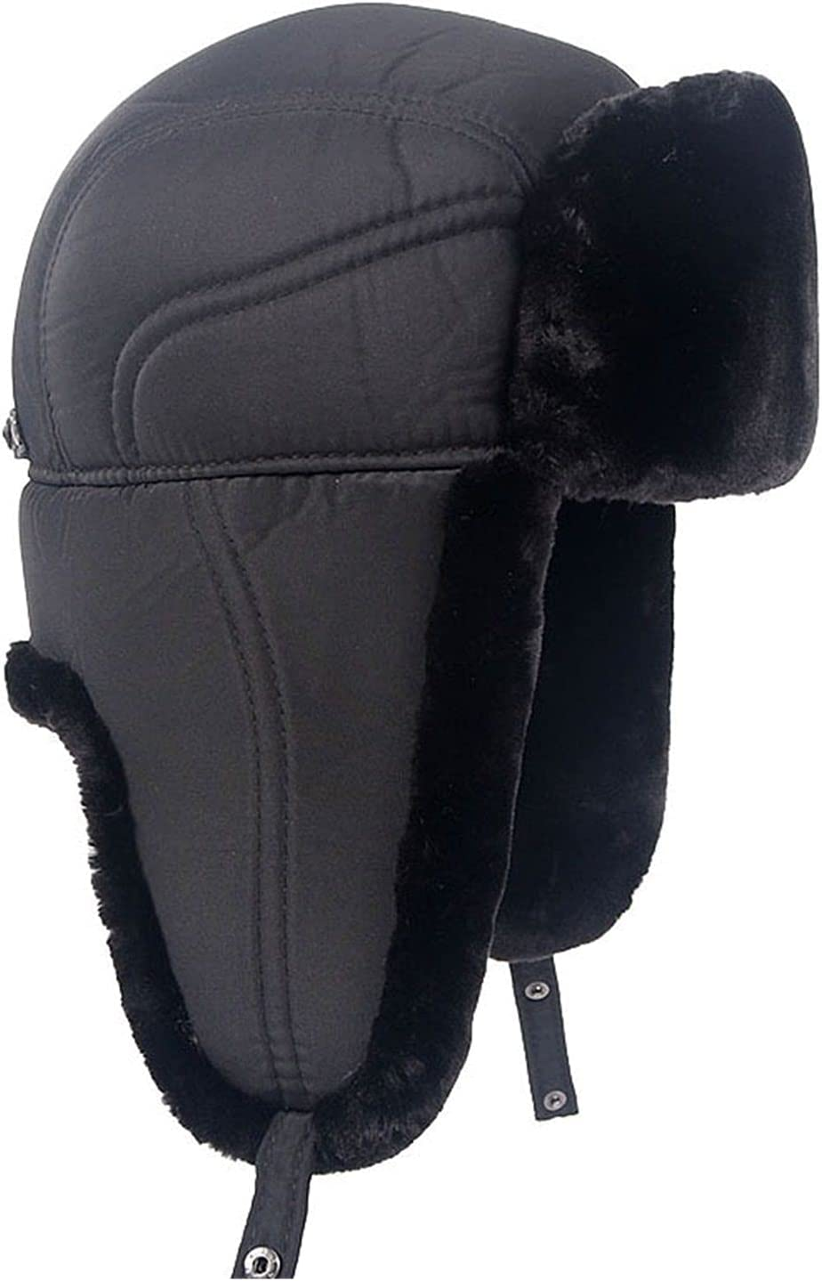 PJRYC Winter Warm Bomber New popularity Hats Black Mens Flaps Ear Under blast sales Dad Snow