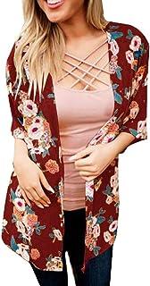 Cárdigan Largo Elegante con Manga Larga Drapeado Cárdigan Chaleco para Mujer Chaqueta Ligero para Primavera y Verano