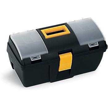 Terry 161 C – Caja herramientas pequeña con bandeja y organizador transparente – tamaños color 39.3 x 18.9 x 20 cm: Amazon.es: Bricolaje y herramientas