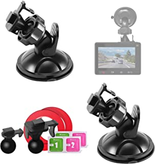 Máy thâu hình đặt trên xe ô tô – Mount Holder for YI Dash Camera,Suction Cup Mount for YI Dash Cam (2 Packs) with 2 Different Pivot Swivel Points,2 Wipes(Dry and Wet),2 3M Double Sided Adhesive Tapes
