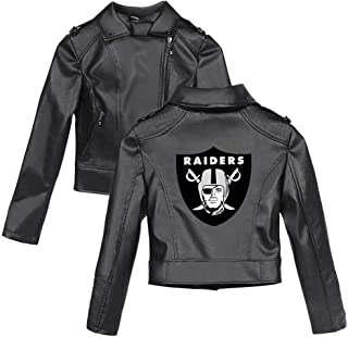 Women's Leather Jackets with Football Team Logo Short Motorcycle Zip Up PU Punk Outwear Fitted Slim Coat