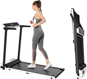 FondRun Folding Treadmill for Home, 2.5HP 1800W Electric Treadmill for Walking Jogging, Portable Compact Treadmill with LED Monitor, Installation-Free for Office Workout…