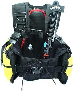 Sopras Sub Scuba Center BCD Dive BC Spacious Pockets Slot for Octo Yellow Scuba Diving