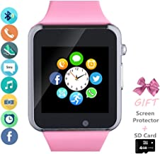 Amazqi Smart Watch, Smartwatch Phone with SD Card Pedometer Call Text Notification SIM..