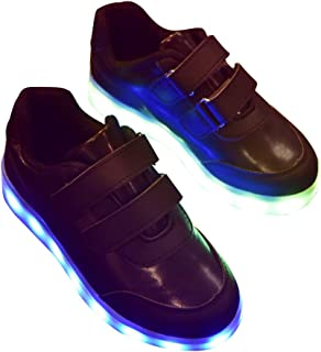 BININBOX Kids LED Light Up Shoes USB Charging Sneakers Lights for Boys Girls