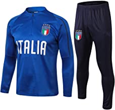 Men's Soccer Jersey Suits, Italy National Football Team Sweatshirt, Blue Army Long Sleeve Tracksuits, Adult Soccer Sportswear Training Shirts