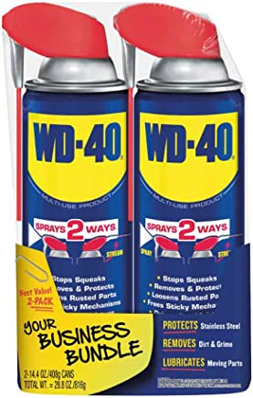 WD-40 Multi-Use Product with SMART STRAW SPRAYS 2 WAYS, 14.4 OZ [2-Pack]