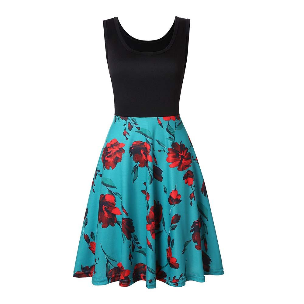 Available at Amazon: VooSaa Women's Sleeveless Dresses Summer Floral Flare Aline Tank Sundress