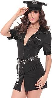 SS Queen Women Sexy Police Costume Dirty Cop Officer Uniform Deputy Halloween Masquerade (set13)