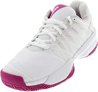 K-Swiss Women's Ultrashot 2 Tennis Shoe (White/Cactus Flower/Nimbus Cloud, 7.5)