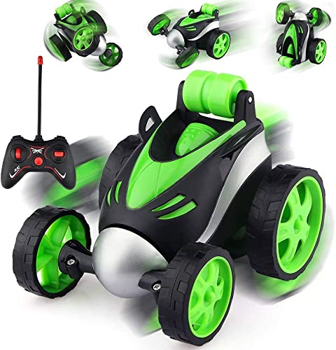 PET WE Mini rc Stunt car Electric Drift Rotating Wheel Vehicle Toy Remote Control Toy for boy Girl Colour as per Stock