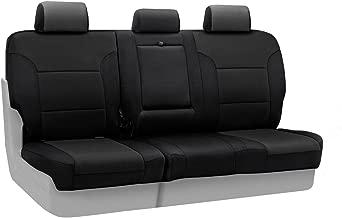 Coverking Custom Fit Rear 60/40 Bench Seat Cover for Select Honda CR-V Models - Neosupreme Solid (Black)