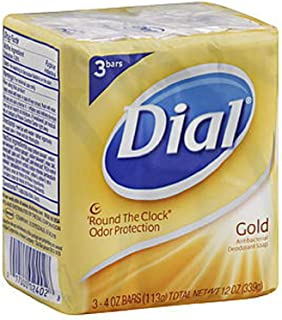 Gold Antibacterial Deodorant Soap - Round The Clock Ordor Protection, 2 bars