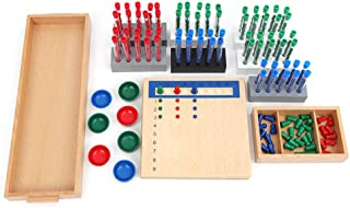 Montessori Test Tube Division Bead Board,Early Math Skills, Visual Aid, Ages 7+
