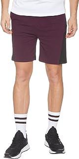 Off Cliff Two-tone Side Pocket Elastic Waist Sport Shorts for Men
