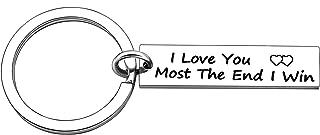 Keyrings Boyfriend Girlfriend Birthday Keychains I Love You Most The End I Win