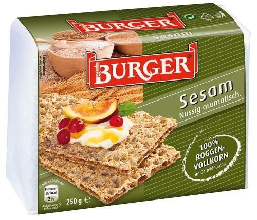 Burger Knäcke Sesam, 12er Pack (12 x 250 g Packung)