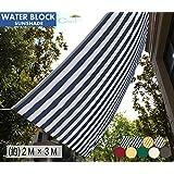 Cool Time(クールタイム) (200×300cm)日除け シェード オーニング 撥水 ブルーホワイト【1年間の安心保証】