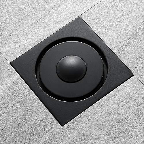 PIJN Bodenablauf Kunststoff Deodorant Kern Balkon Waschmaschine Bodenablauf Schwarz Badezimmer Bodenablauf (Color : Metallic, Size : 100x100x90mm)